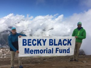 Becky Black Memorial Fund sign
