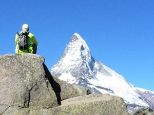 Dave facing the Matterhorn